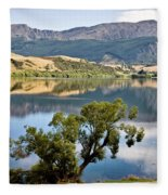Lake Hayes New Zealand Fleece Blanket