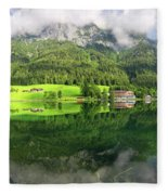 Lake Hintersee Fleece Blanket