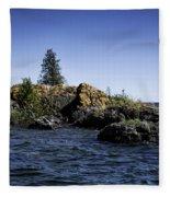 Lake Huron Shoreline Cedarville Michigan Fleece Blanket