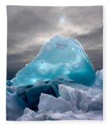 Lake Ice Berg Fleece Blanket