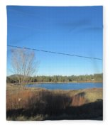 Lake In Lakeside Fleece Blanket