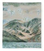 Lake In The Mountains Fleece Blanket
