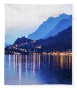 Lake Iseo - Italy Fleece Blanket