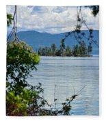 Lake Islet Fleece Blanket
