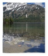 Lake Jenny Grand Tetons Fleece Blanket