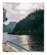 Lake Lucerne From A Boat  Fleece Blanket