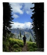 Lake Mcdonald From Mt Brown - Glacier National Park Fleece Blanket