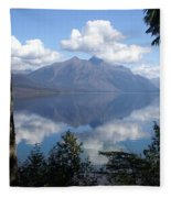 Lake Mcdonald Glacier National Park Fleece Blanket
