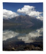 Lake Mcdonald Reflection Glacier National Park Fleece Blanket