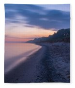 Lake Michigan Morning 2 Fleece Blanket