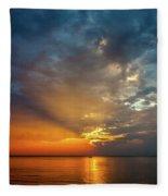 Lake Michigan Sunset Fleece Blanket