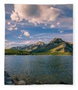 Lake Minnewanka Banff II Fleece Blanket