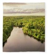 Lake Mohegan, Fairfield, Connecticut Fleece Blanket