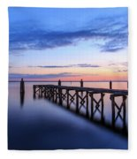 Lake Monroe At Twilight Fleece Blanket