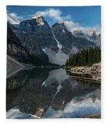 Lake Moraine Reflection Fleece Blanket