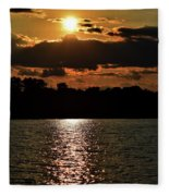 Lake Murray Golden Hour Fleece Blanket