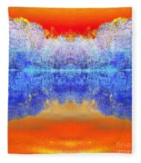 Lake Of Many Colors  Fleece Blanket
