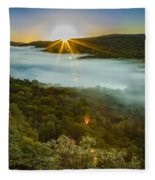 Lake Of The Clouds Sunrise Fleece Blanket