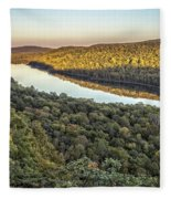 Lake Of The Clouds Sunset Fleece Blanket