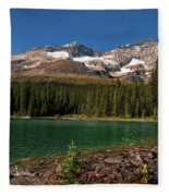 Lake O'hara, Yoho National Park Fleece Blanket
