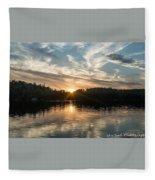 Lake Onaping Sunset Reflections Fleece Blanket