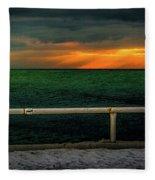 Lake Ontario Dawn Fleece Blanket