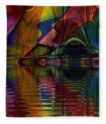Lake Opalescence Fleece Blanket