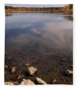 Lake Pomme De Terre In October Fleece Blanket