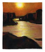 Lake Powell At Sunset Fleece Blanket