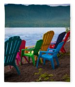 Lake Quinault Chairs Fleece Blanket