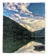 Lake Reflections Fleece Blanket