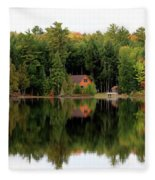Lake Reflections Panorama 4370 4371 Fleece Blanket