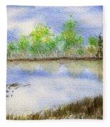 Lake Scene Fleece Blanket