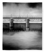 Lake Shelbyville Dam Fleece Blanket
