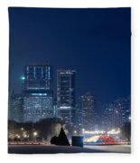 Lake Shore Drive Chicago Fleece Blanket