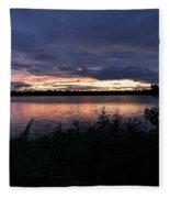 Lake Sky Fleece Blanket