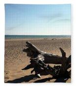 Lake Superior Driftwood Fleece Blanket