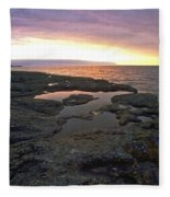 Lake Superior Sunrise Fleece Blanket