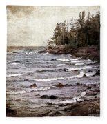 Lake Superior Waves Fleece Blanket