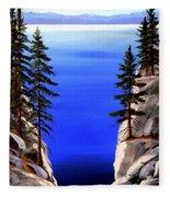 Lake Tahoe Framed Fleece Blanket