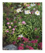 Lake Tahoe Garden Fleece Blanket