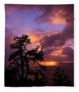 Lake Tahoe Sundown 2 Fleece Blanket