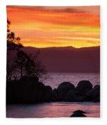 Lake Tahoe Sunset Colors Fleece Blanket