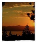 Lake Tahoe Sunset Fleece Blanket