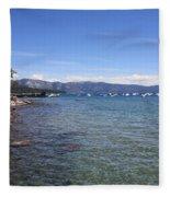 Lake Tahoe Waterscape Fleece Blanket