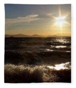 Lake Taupo New Zealand Fleece Blanket