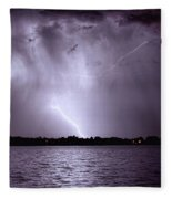 Lake Thunderstorm Fleece Blanket