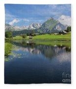 Lake Vorderer Schwendisee Fleece Blanket