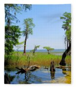 Lake Waccamaw Nc Fleece Blanket