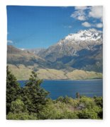 Lake Wanaka New Zealand Iv Fleece Blanket